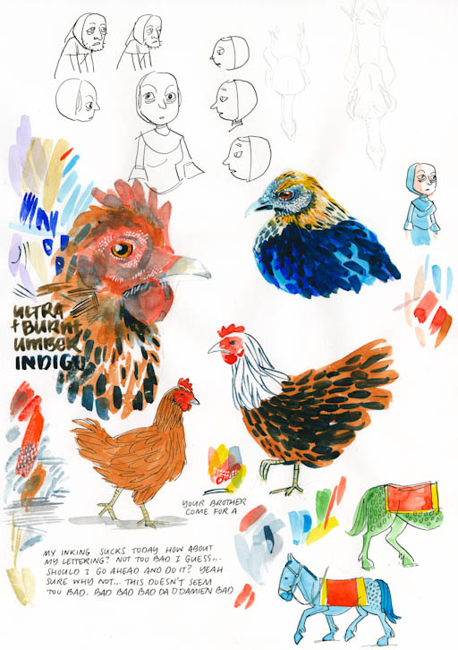 loose chickens